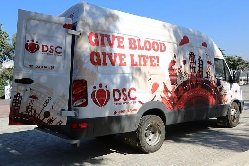 Blood drive truck